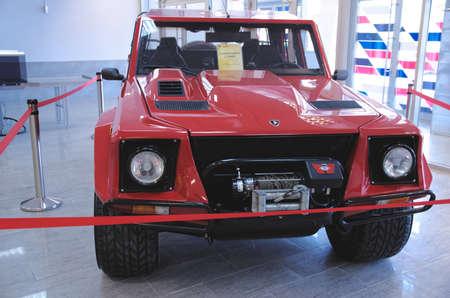 sport utility vehicle: SOCHI, RUSSIA - JUNE 12, 2015: Lamborghini LM002 in the Sochi Auto Museum, on June 12 2015. Editorial