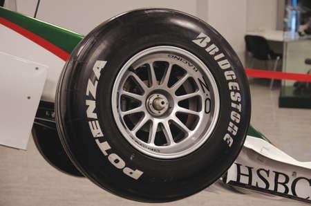formula one car: SOCHI, RUSSIA - JUNE 12, 2015: Formula One car in the Sochi Auto Museum, on June 12 2015.