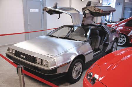 SOCHI, RUSSIA - JUNE 12, 2015: DeLorean DMC-12 car in the Sochi Auto Museum, on June 12 2015. Redactioneel