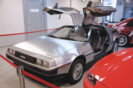 SOCHI, RUSSIA - JUNE 12, 2015: DeLorean DMC-12 car in the Sochi Auto Museum, on June 12 2015. Редакционное