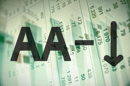 aa: Inscription AA- on a PC screen. Stock Photo