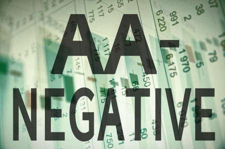 aa: Inscription AA- negative on a PC screen.