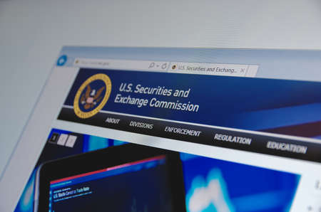 regulating: Saransk, Russia - November 04, 2015: U.S. Securities and Exchange Commission main page on its web site in Saransk, Russia, on November 04 2015. Selective focus.