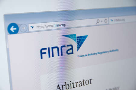 financial official: Saransk, Russia - November 04, 2015: A computer screen shows details of FINRA main page on its web site