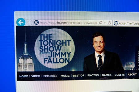 tonight: Saransk, Russia - December 12, 2015: A computer screen shows details of The Tonight Show Starring Jimmy Fallon page on NBC web site Editorial