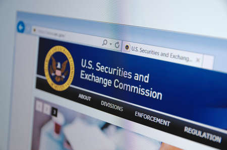 Saransk, Russia - November 04, 2015: U.S. Securities and Exchange Commission main page on its web site in Saransk, Russia, on November 04 2015. Selective focus.