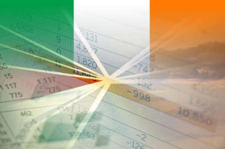 bandera irlanda: Irlanda del concepto de econom�a - Los datos financieros sobre la bandera de Irlanda