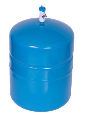 pressurized: Water Storage Tank isolated on the white background.