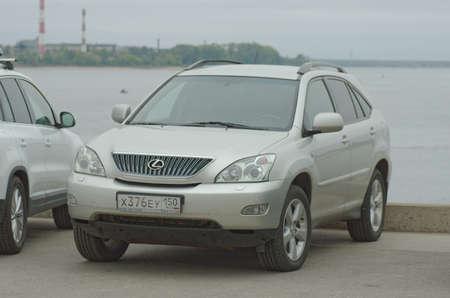 lexus: GORODETS, NIZHNY NOVGOROD OBLAST, RUSSIA - AUGUST 14, 2016: Lexus RX parked on city street.