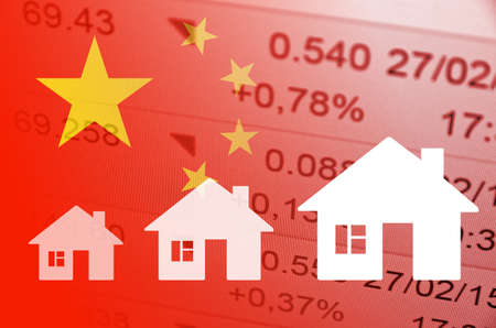 multiple house: Positive Trend in China Property Market. Stock Photo