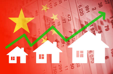 property of china: Positive Trend in China Property Market. Stock Photo