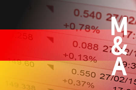 acquisitions: German M & A market. Stock Photo