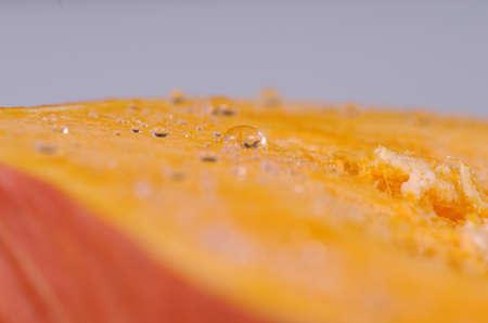 Close up shot of pumpkin slice.
