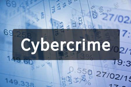 cybercrime: Cybercrime written on translucent black space Stock Photo
