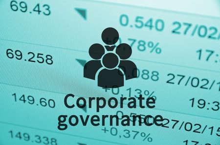 gobierno corporativo: Gobierno corporativo Foto de archivo