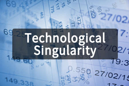 Technological Singularity on translucent black space