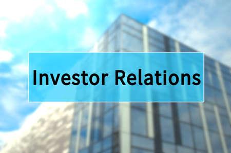 Investor relations written on translucent blue space. Stock fotó