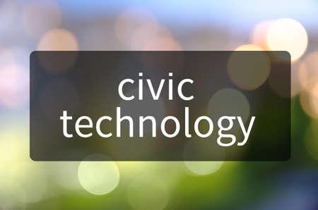 반투명 검은 공간에 작성된 시민 기술. 스톡 콘텐츠