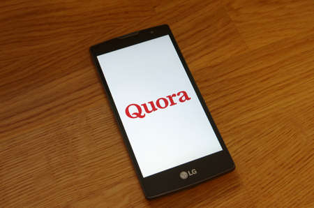 Saransk, Russia - July 23, 2017: A Smartphone screen shows logo of Quora. Editorial
