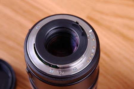 Lens rear side closeup.