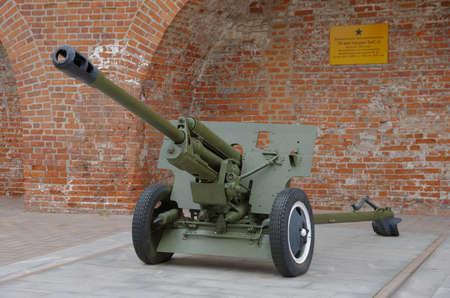 NIZHNY NOVGOROD, RUSSIA - AUGUST 30, 2017: 76 mm divisional gun M1942 (ZiS-3) 新聞圖片