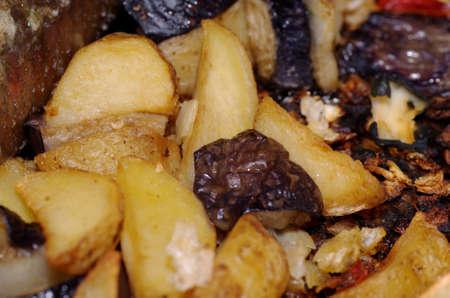Baked vegetables closeup. Stock Photo