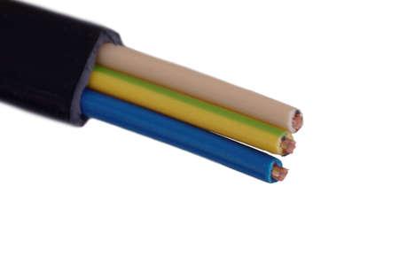 3 core PVC cable. Stock Photo
