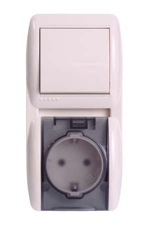 Wall light switch with outlet. Stock Photo