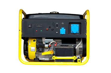 Portable generator isolated on white background.