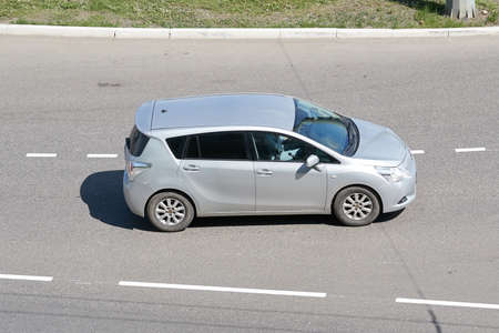 SARANSK, RUSSIA - MAY 17, 2019: Toyota Corolla Verso on city road. Editorial