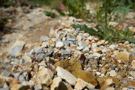 A Rocky soil close up.