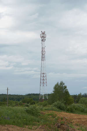 The Cellular base station in the field.