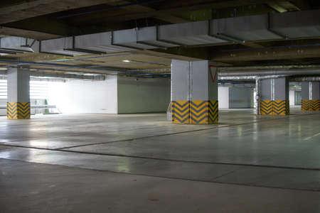 Empty indoor parking.