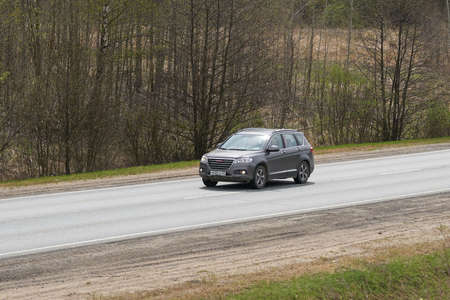 Ruzayevsky District, Mordovia, Russia - May 08, 2021: The Haval H2 on the intercity road. Editorial