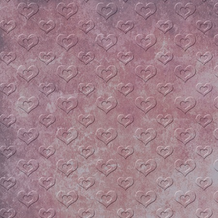 Embossed hearts pattern