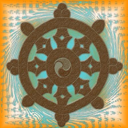 Wheel of Dharma  Banco de Imagens