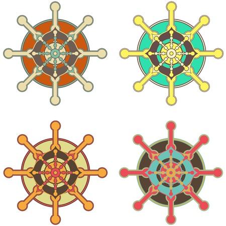 Wheel of Dharma Stock Vector - 11096961