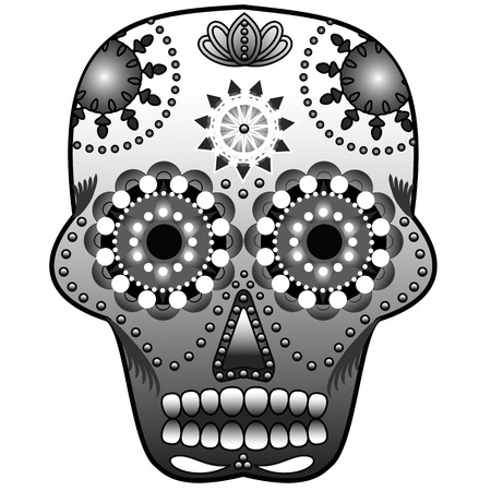 Sugar skull Ilustração