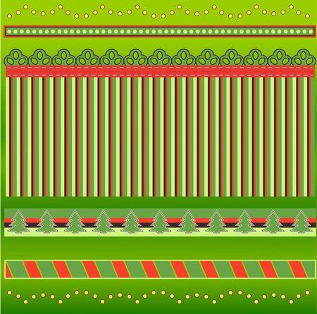 Holiday Borders Illustration
