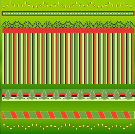 holiday background: Holiday Borders Illustration