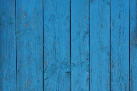 Blue wooden fence. texture photo
