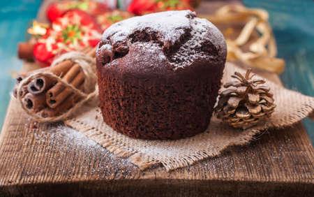 fruitcake: fruitcake for Christmas, selective focus Stock Photo