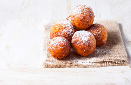 Cottage cheese donuts. Selective focus Banque d'images