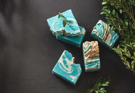 Fragrant handmade natural eco soap. Healthy skin. Cosmetic soap made from natural ingredients.