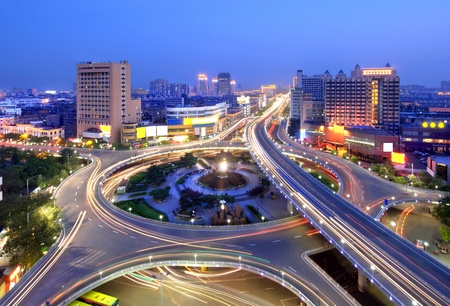 motorway: City Scape of the nanchang china.
