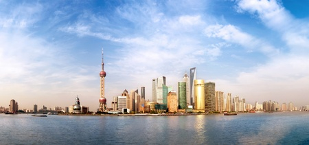 2011,Highly detailed image of the current Shanghai Skyline. Stock Photo - 10758046