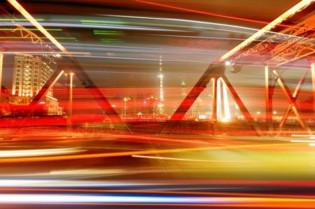 A historic bridge at Shanghai bund night Stock Photo - 10782221