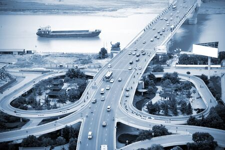 The curve of the eye bridge winding  photo