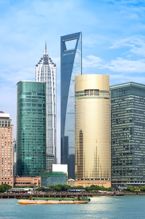 pudong district: High-rises in Shanghai