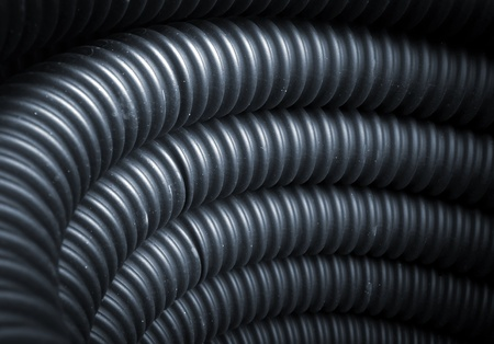 hydraulic hoses: Technical rubber hose texture in hi resolution Stock Photo
